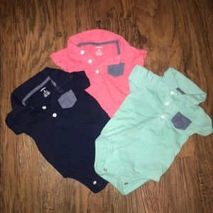 Polo style size 6 month onesies